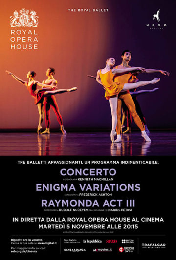 Locandina The Royal Ballet | Concerto – Enigma Variations – Raymonda Act III