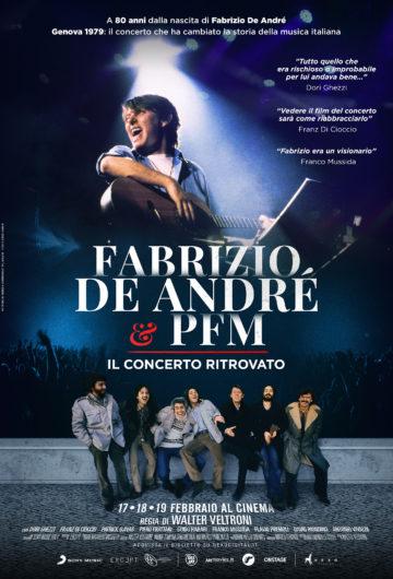 Locandina FABRIZIO DE ANDRÉ E PFM Il concerto ritrovato