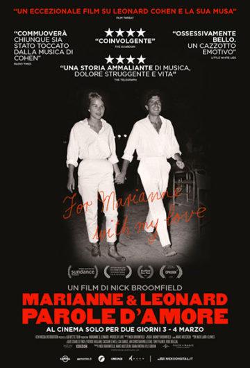 Locandina MARIANNE E LEONARD PAROLE D'AMORE